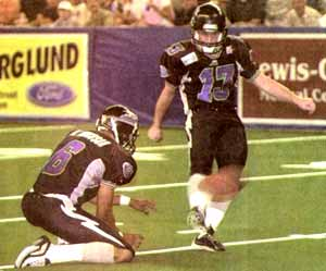 The kick that ended Norm Tilsen's career as head coach of the Iowa Barnstormers.