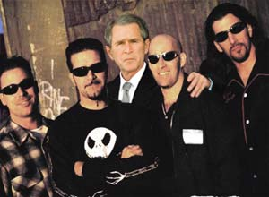 "Bush and Anthrax ""out by the shed"""