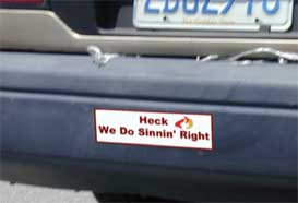 The new Heck bumper stickers are popping up everywhere
