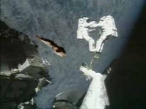 Astronaut Michael Lopez-Alegria's turd on a crash-course with destiny and mayhem.