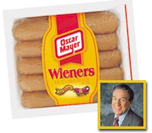 Has Oscar Mayer's secret finally been revealed by Mike Wallace (inset) or is it all a bunch of B-O-L-O-G-N-A?